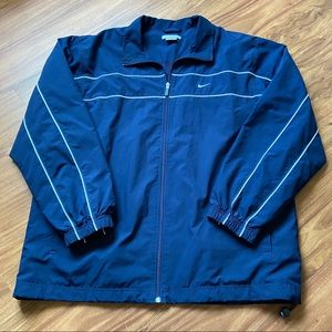 Vintage navy blue nike windbreaker jacket